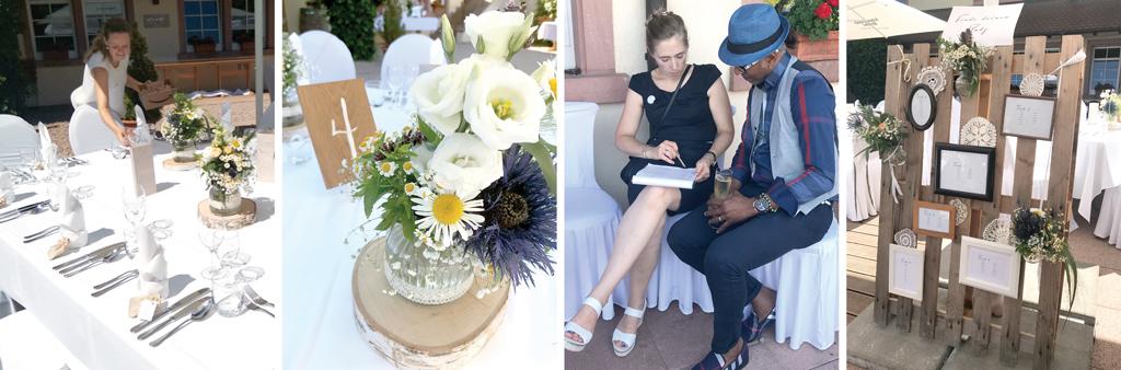 Hochzeitsplaner bei der Arbeit
